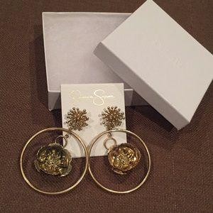 Jessica Simpson Pierced earrings, New